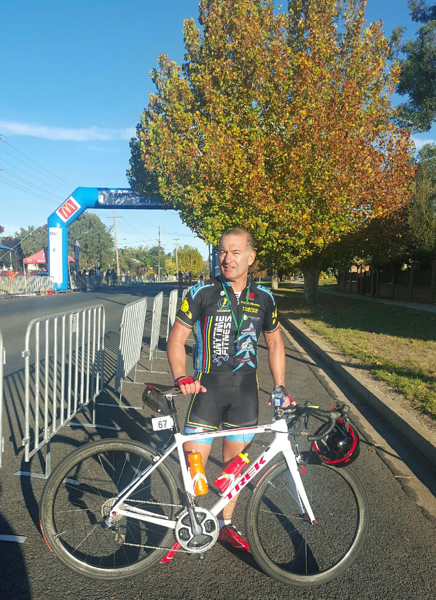 Anthony Colantonio at the Grafton to Inverell Classic finish