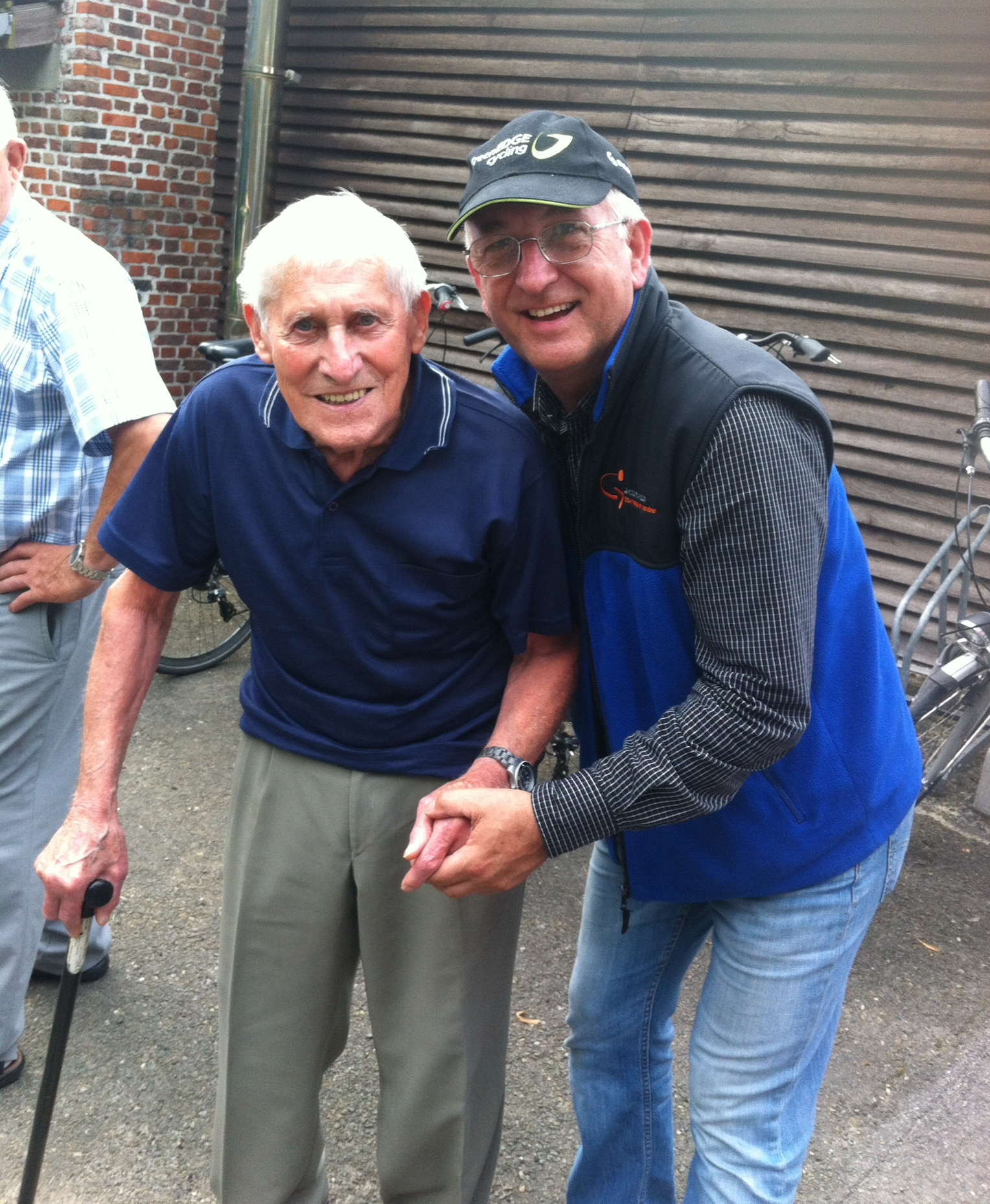 Frans Ver Hulst celebrates turning 90 in Antwerp. The Ver Hulst family have generously supported several BiciSport riders over the years to race in Belgium.