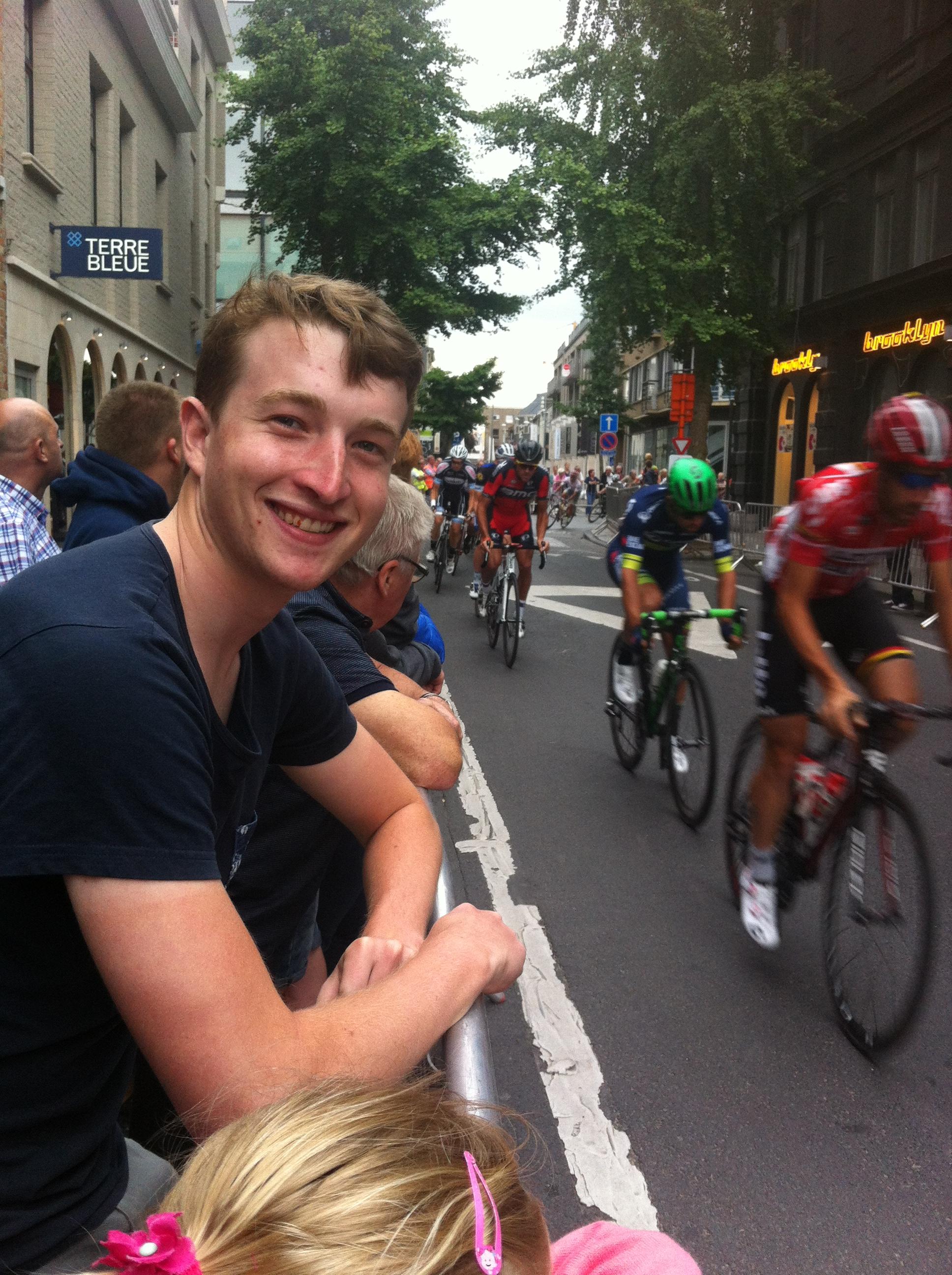 Conor at the Roeselare Criterium with Greg Van Avermatt, Michael Matthews,  Thomas De Gendt & friends