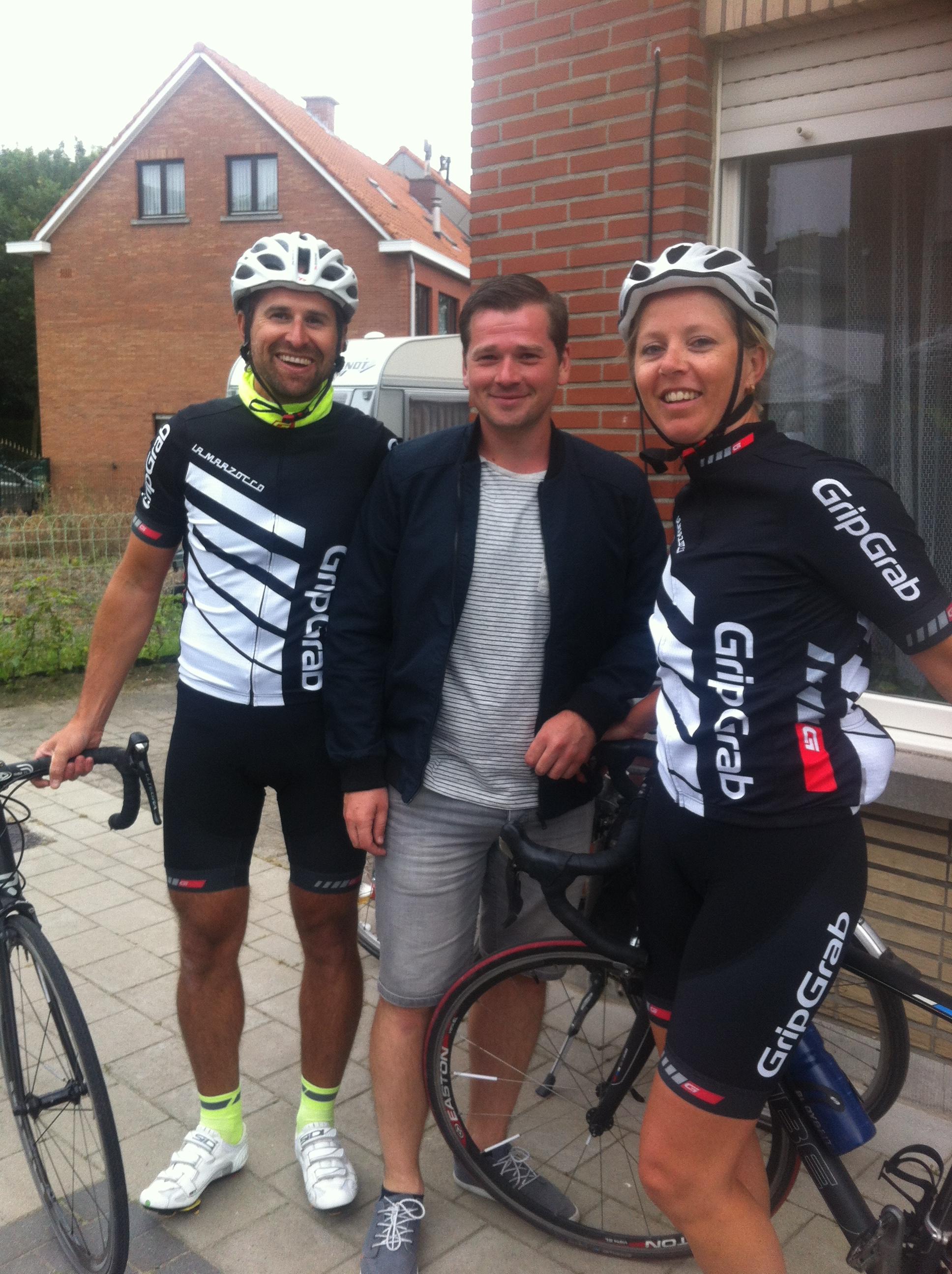The Verhulst family turned up to support Conor in Bazel including Koen, Maarten and Lies Verhulst