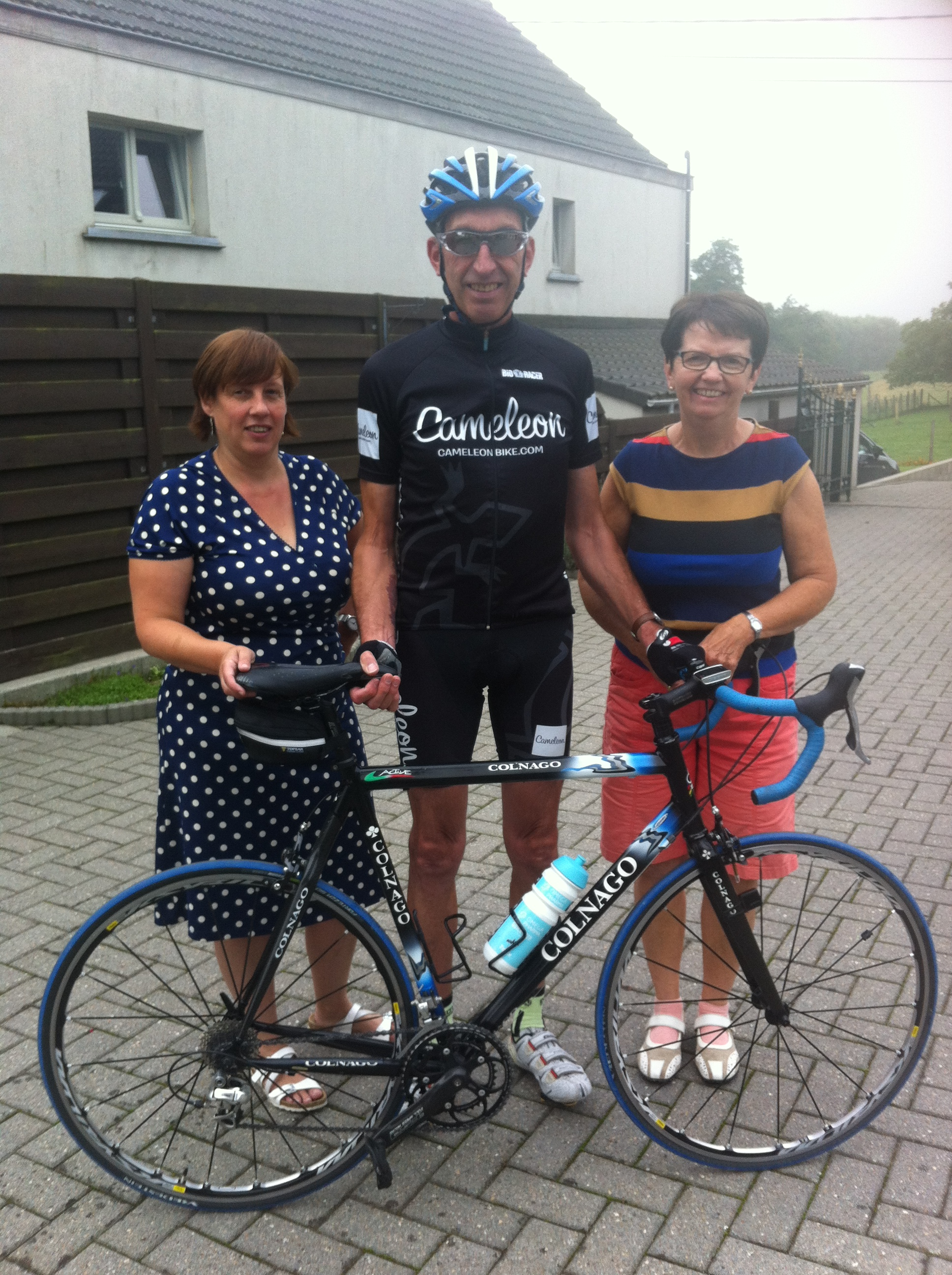 The extended Belgian family in Maarke Kerkem with Kathy, Julien & Lydie