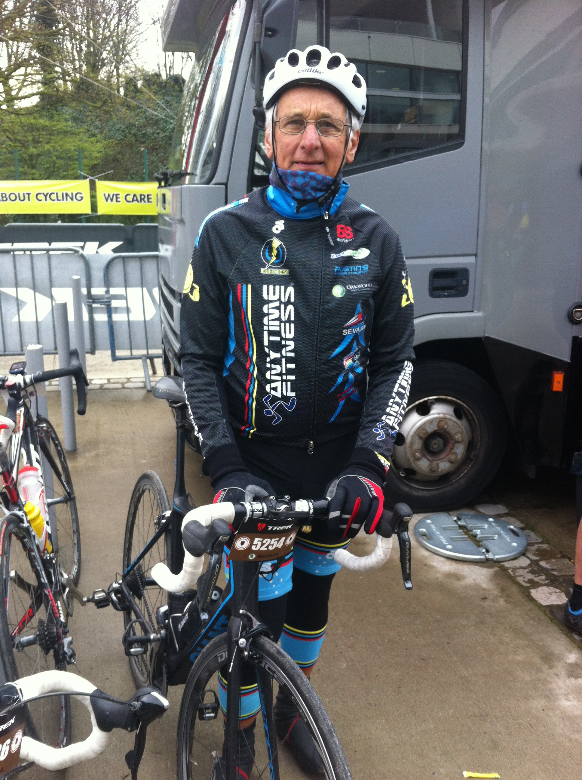 Speedy recovery to John Crouchley who suffered a broken collarbone on a training ride