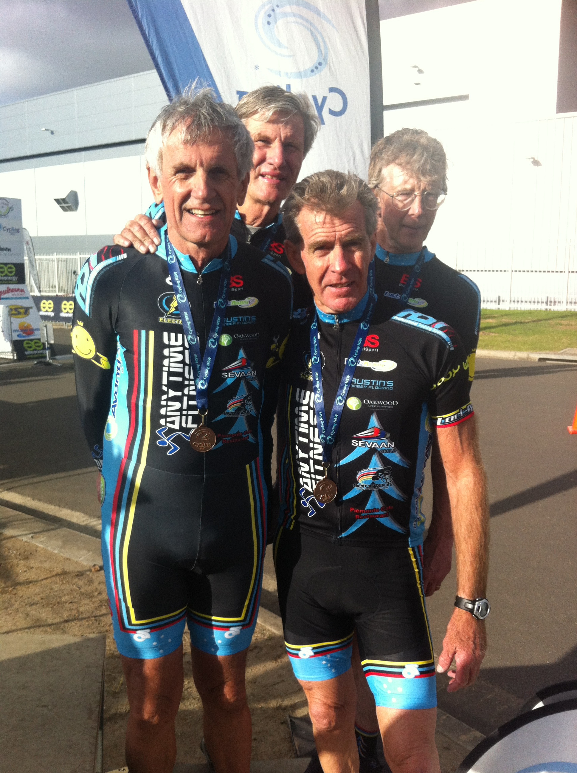 NSW Masters 180+ TTT squad Bronze at Nowra - Ian Grainger, Raoul Westbrook, Mike Lawson, Peter Verhoeven