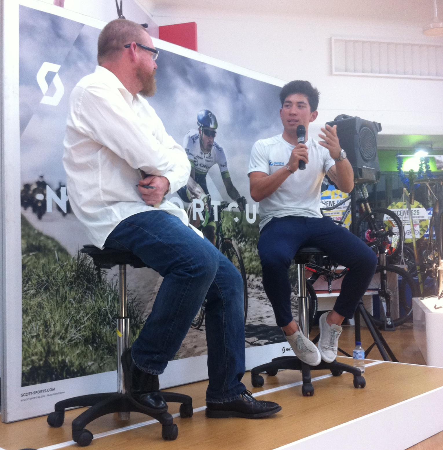 Paul Craft & Caleb Ewan at AvantiPlus Narrabeen. Crafty did a great interview with Caleb.