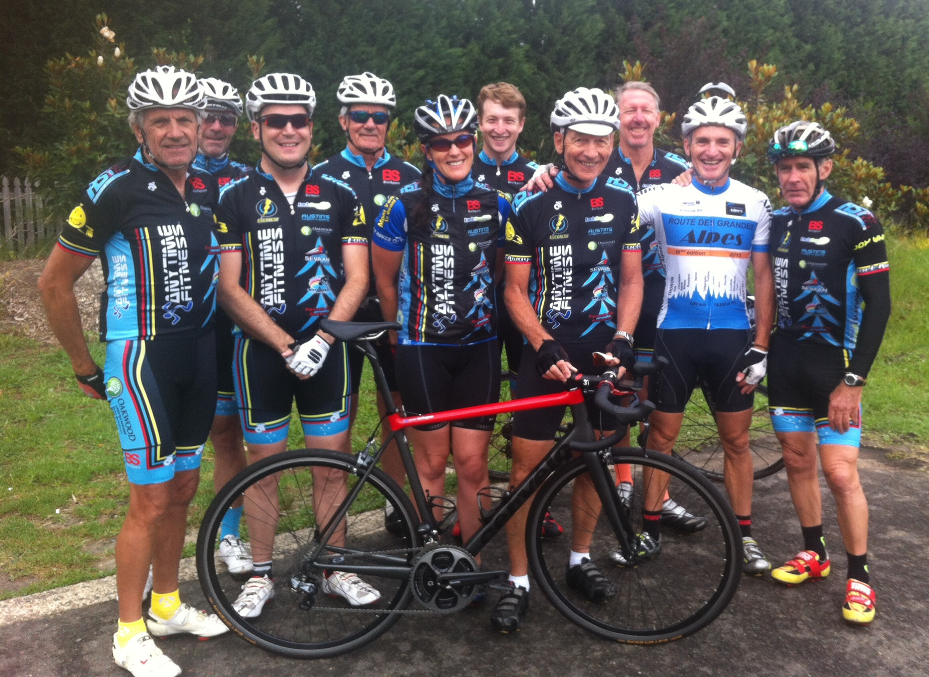 BiciSport Christmas Ride 2016 - the weather was poor with light drizzle but smiles all round.