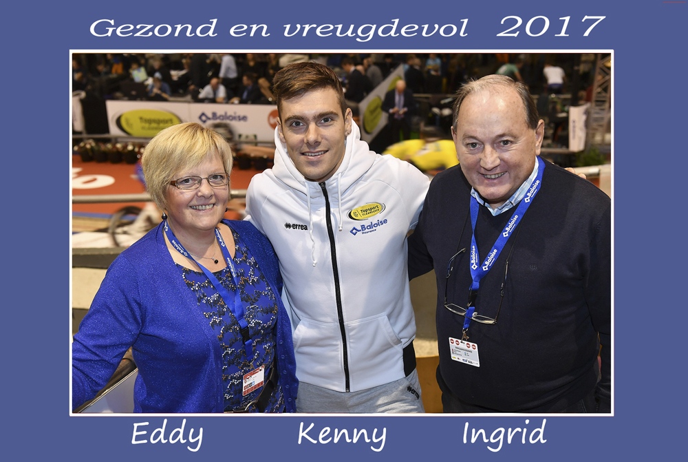 BiciSport supporter Eddy Verbust (far right) sends you a NYE greeting in Flemish with Ingrid & Kenny De Ketele (from the recent Gent Six Day). Eddy will be hosting the BiciSport group to Flanders in March 2017.
