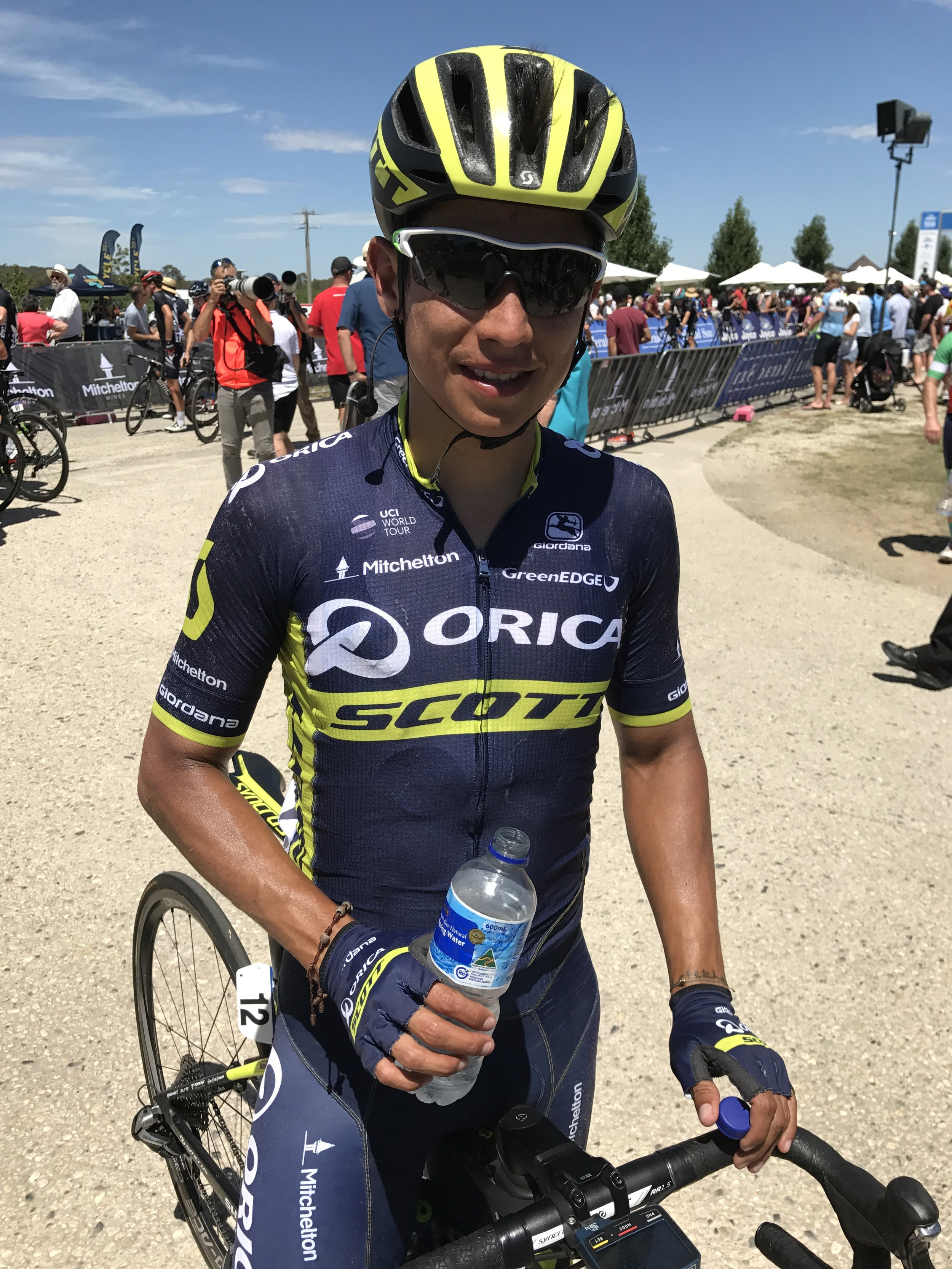 HST 2017 Stage 3 - Esteban Chaves at Mitchelton Winery finish