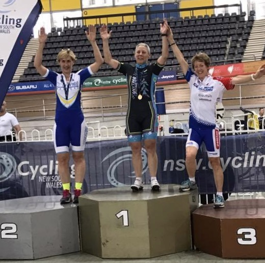 NSW Masters Track Championships - Lise Benjamin took Gold in the W6 Sprint