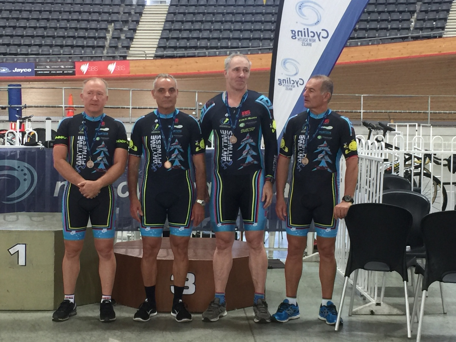 NSW Masters Track Championships - BiciSport 150+ Teams Pursuit Team took the Bronze medal