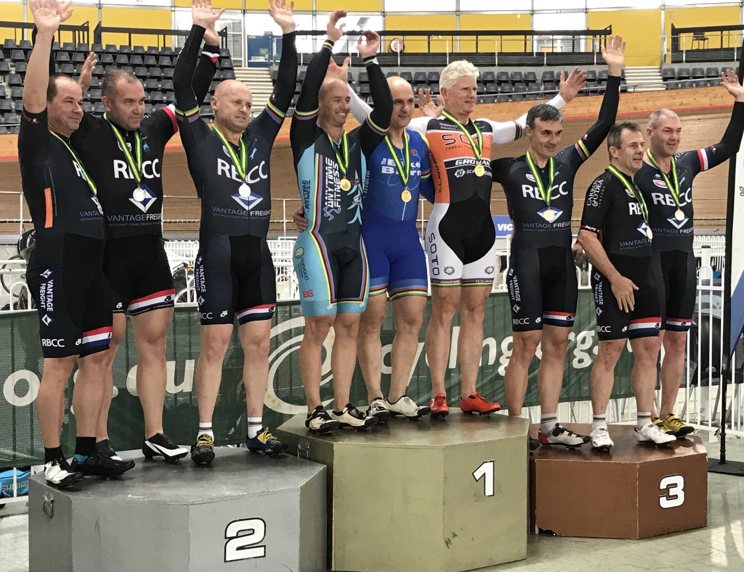 National Masters Track 2017 - Mike Smith takes Gold in the Team Sprint