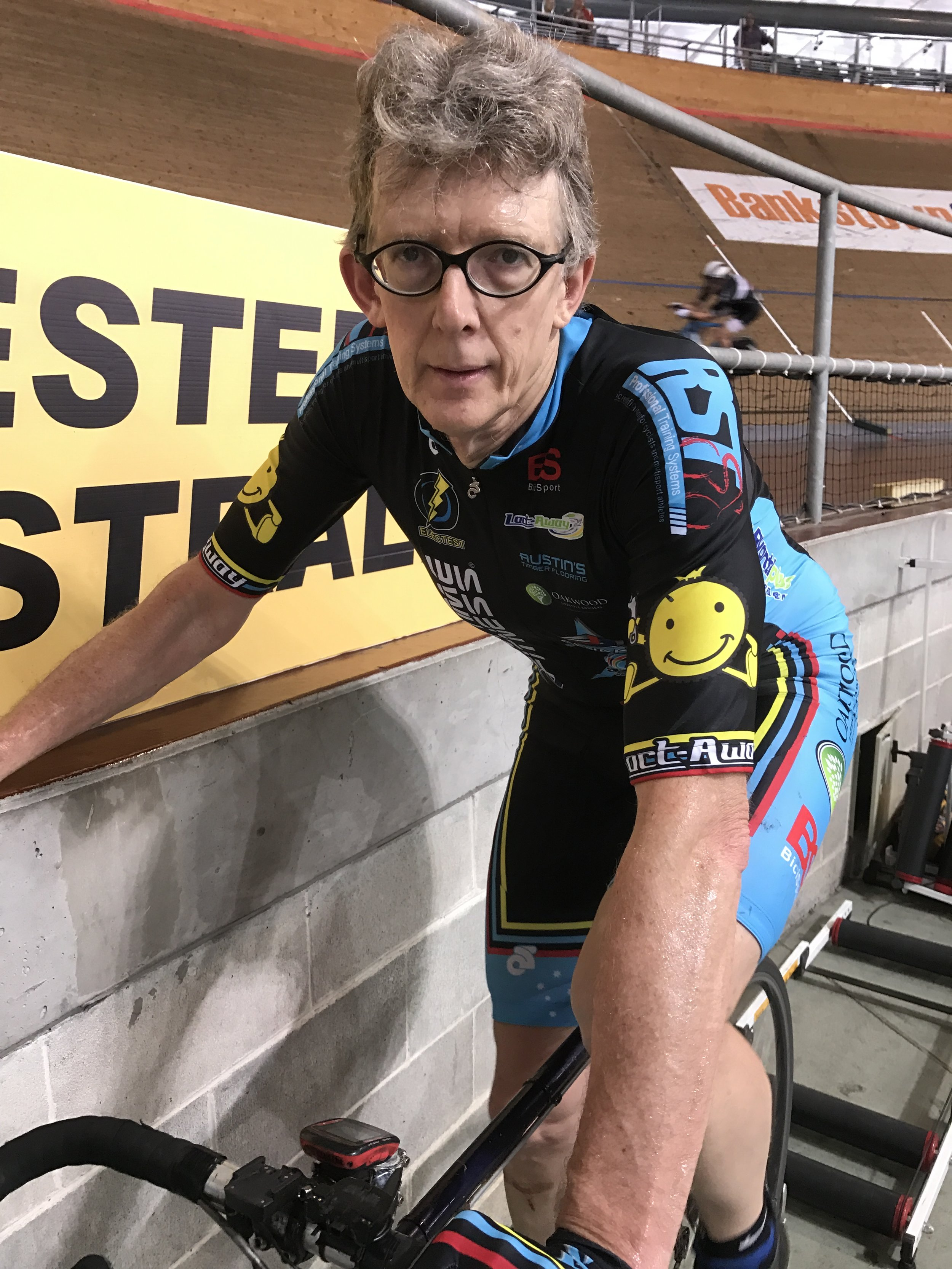 National Masters Track 2017 - Peter Verhoeven on the rollers after the M6 Individual Pursuit