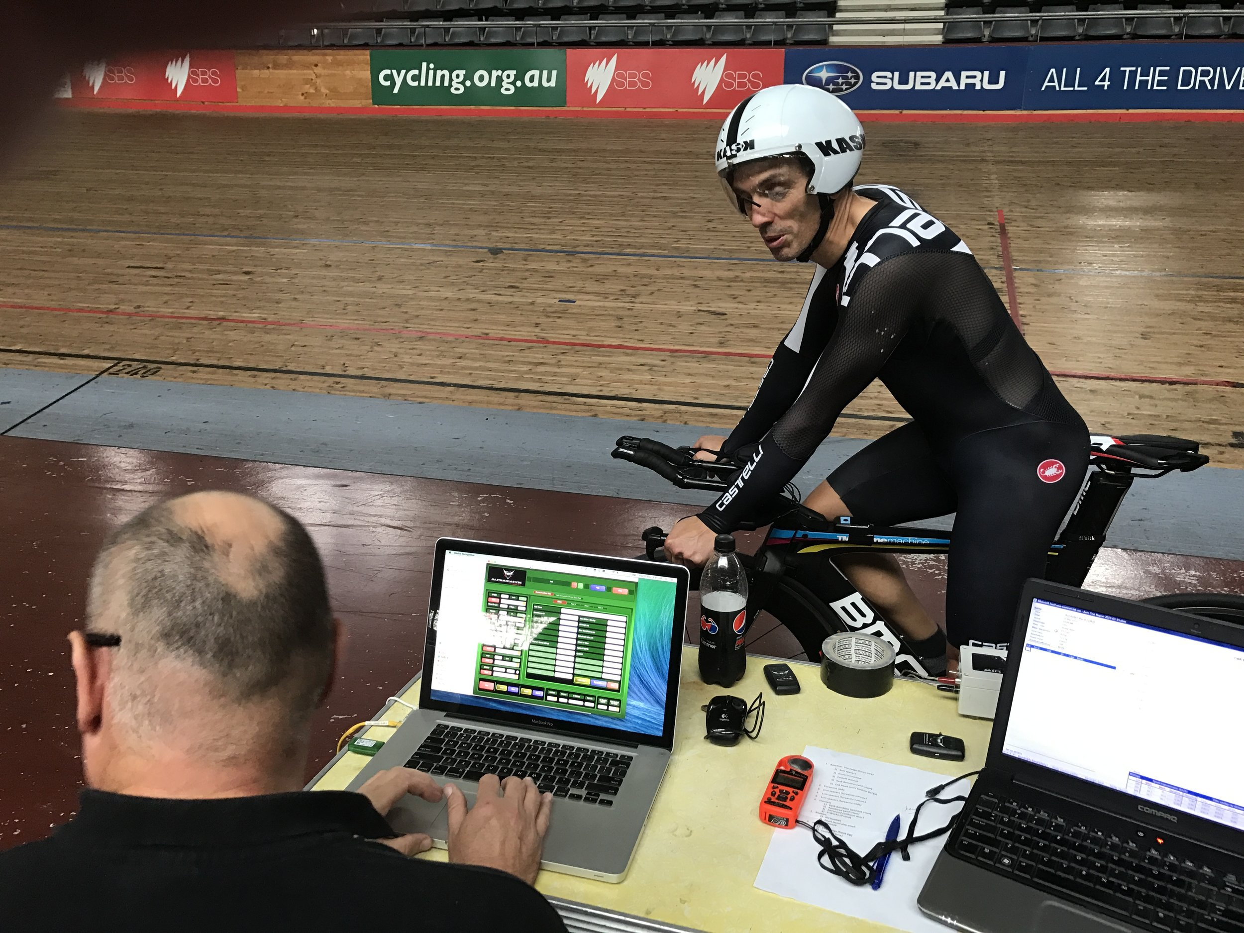 Alex Simmons (BiciSport) is the leading aero testing coach in Australia. Sessions are conducted at DGV over two hours on road and ITT bikes ... all designed to improve aero efficiency and improve competitive results