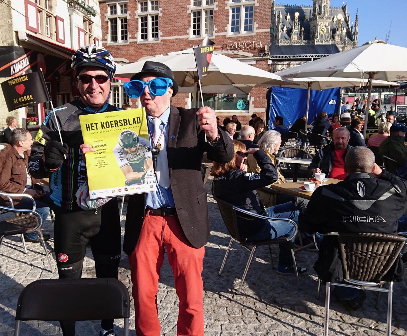 Ronde Van Vlaanderen 17 - the Oudenaarde start of the Womens race had some interesting characters