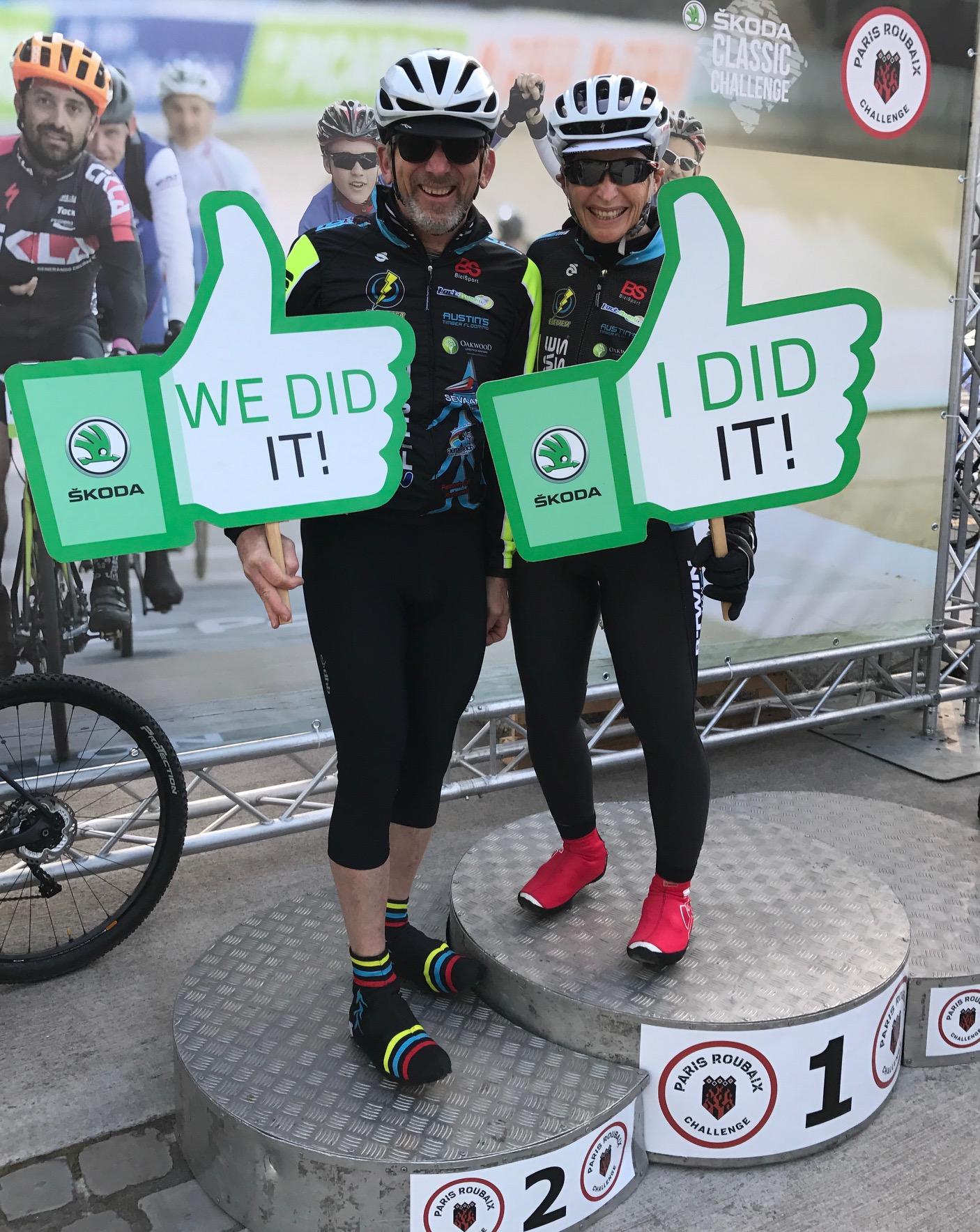 Paris Roubaix Cyclosportive 17 -Graham & Sue Tierney