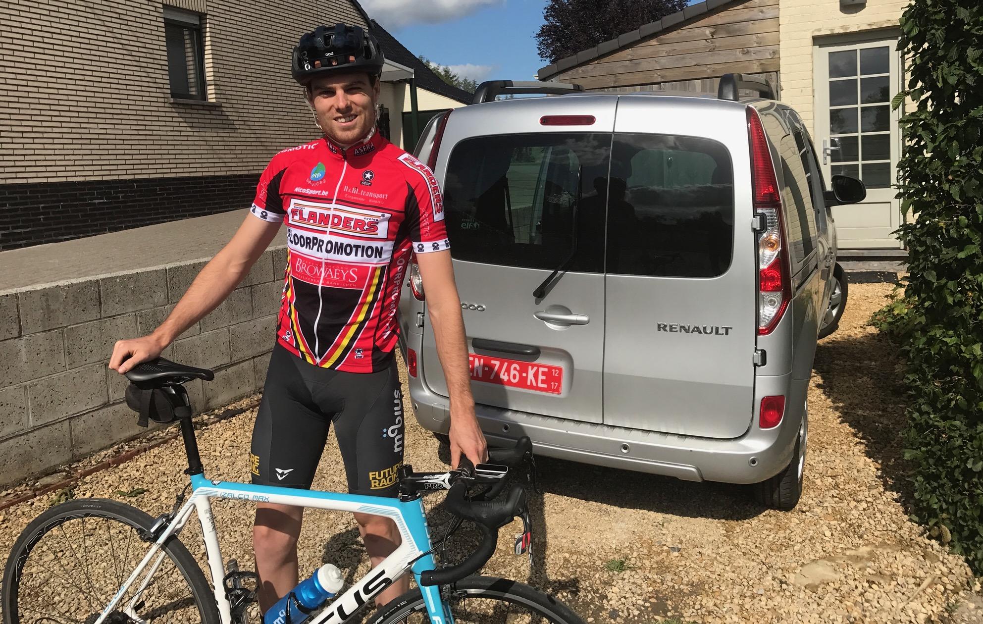 Peter Livingstone at the Kokerelle B & B at Maarke Kerkem near the Eikenberg climb