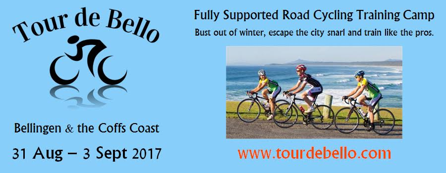 Tour de Bello reservations close at the end of July, so don't miss out on your spot. This is a fantastic 4 day training camp in the Coffs Harbour region hosted by Alex Simmons (BiciSport).