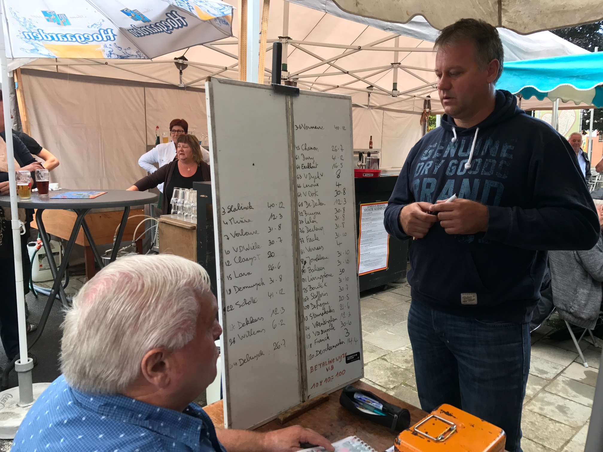 Beernam 17 - Belgian bookmakers in action at the Beernam kermesse. What price for Peter van der Livingstone at the next Flemish kermesse ?