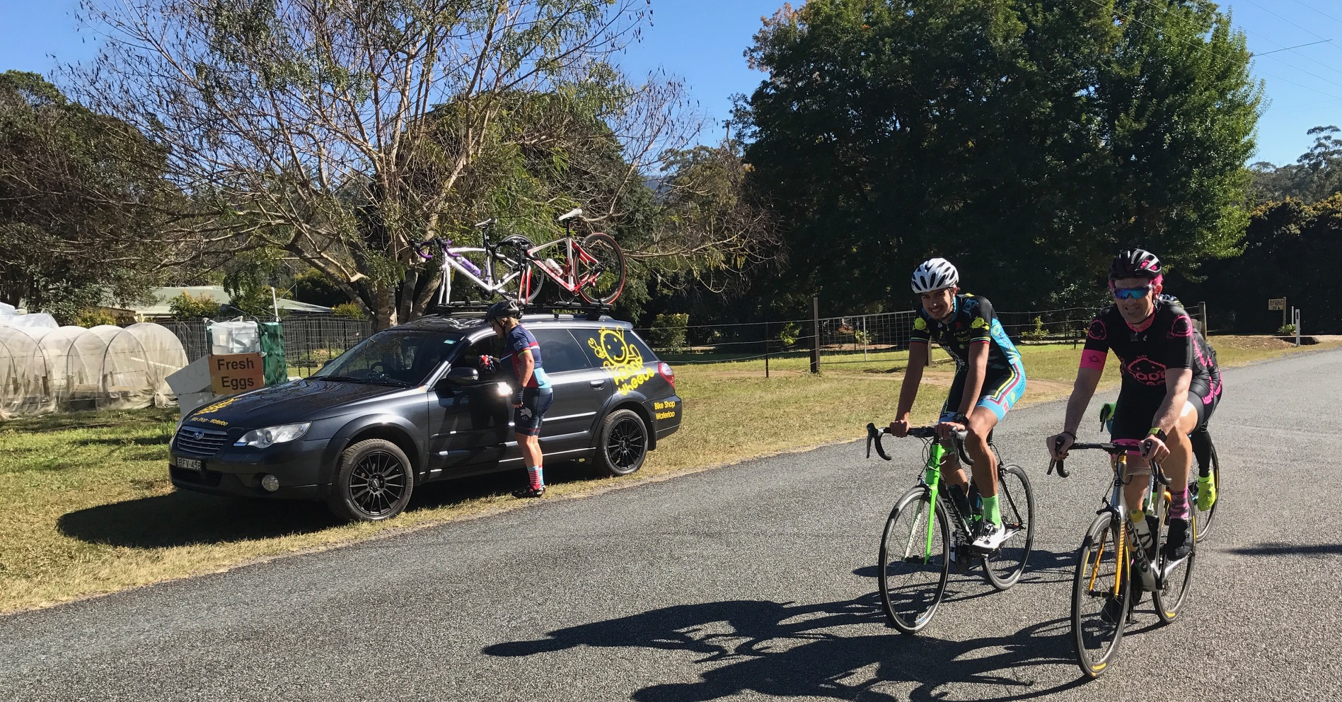 Tour de Bello 17 - Lachlan Haughey & Stewart Campbell on the final day of the Tour De Bello at the Bonville Golf Course near Coffs Harbour