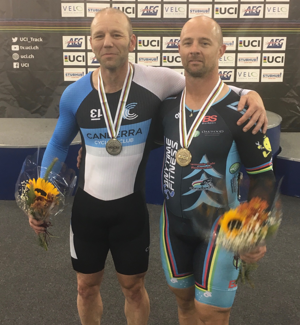 Los Angeles World Masters Track Championships October 17 - Mike Smith took Bronze in the Sprint