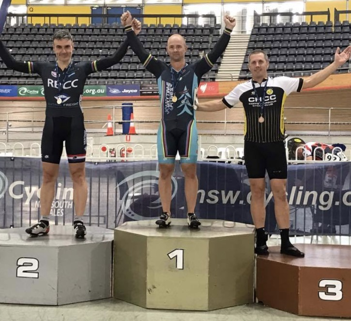 NSW Masters Track Championships at DGV February 17 - Mike Smith took Gold in the Sprint