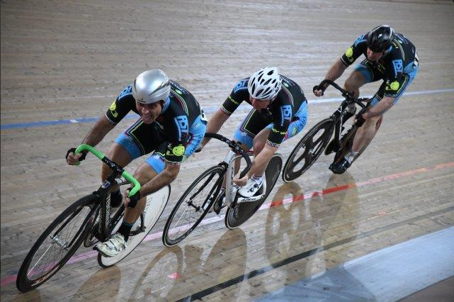 National Masters Track Championships March 17 - BiciSport Team Sprint combination of Dom Zumbo, Graham Cockerton & James Thornton
