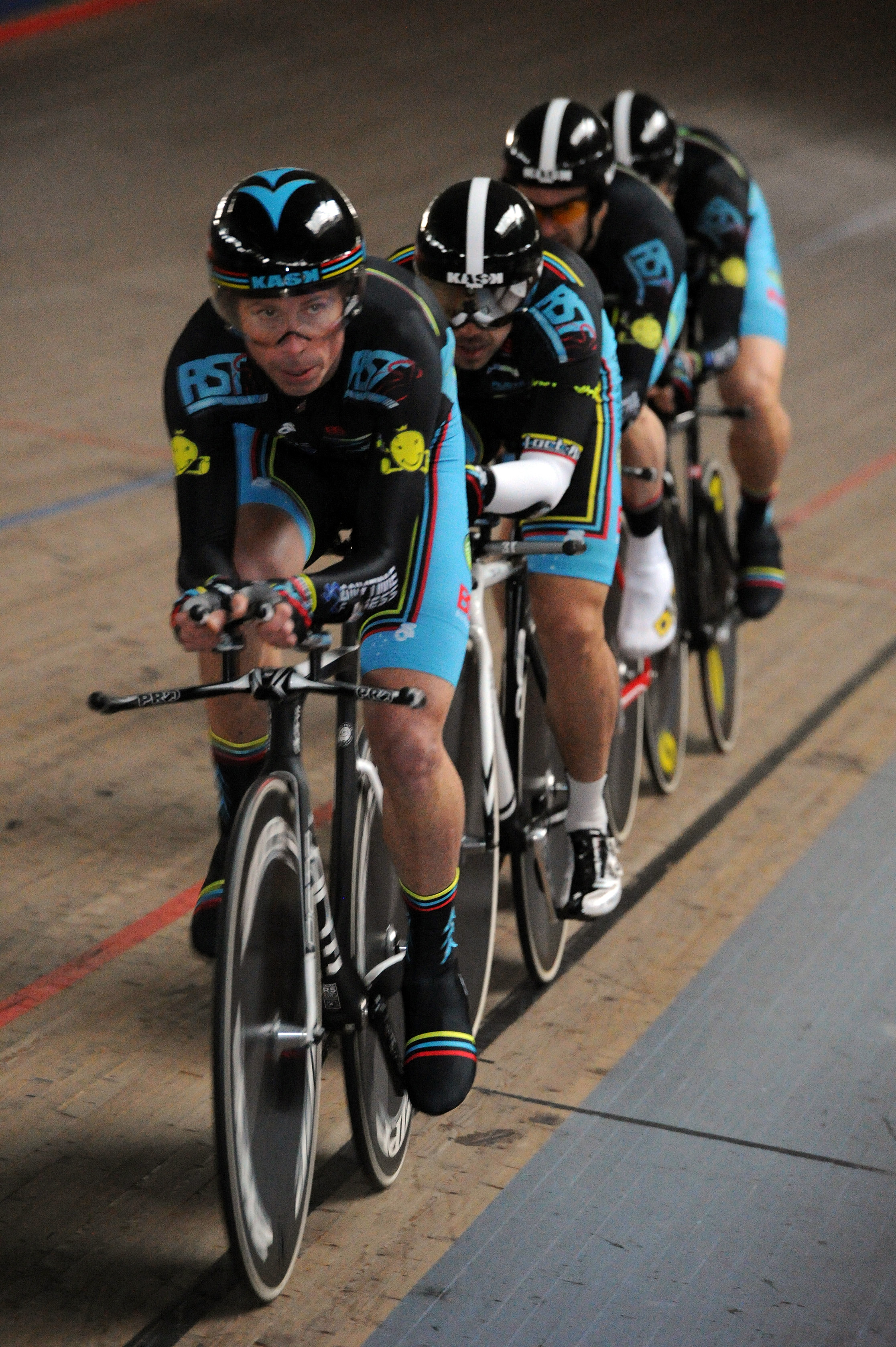 NSW Masters Teams Pursuit Championships February 14 - Jayson Austin, Alex Arancibia, Rick McArdle, Matt Glanville