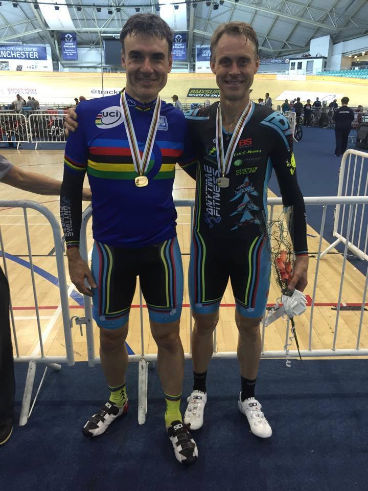 World Masters Track Championships October 15 - Matt Glanville took Gold in the PointScore & Geoff Baxter the Silver medal. Matt also won the prestigious Cossavella Cup.