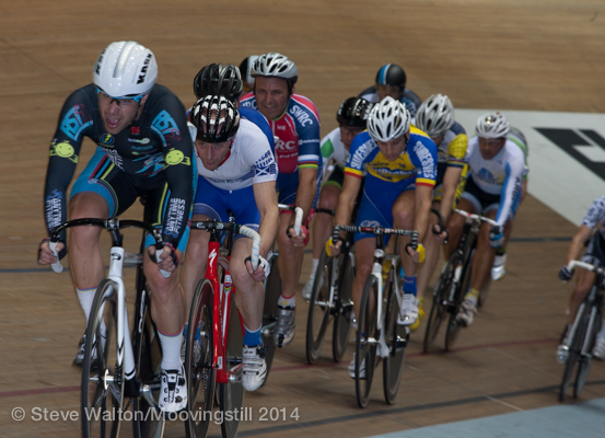 Manchester World Masters Track Championships October 14 - Alex Arancibia leads