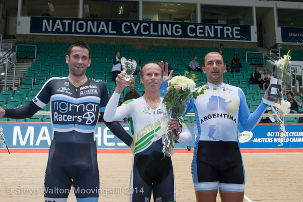 Manchester World Masters Track Championships October 2014 - Jays Austin took the victory in the Cossavella Trophy that closed the Championships. Matt Glanville won the Cossavella in 2015