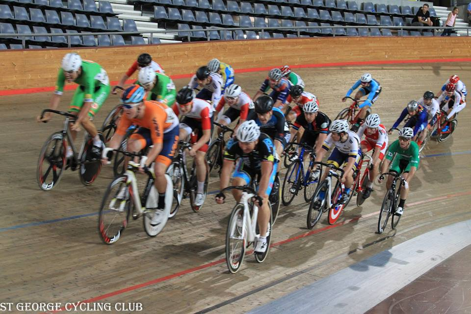 Clarence Street Cup Final 2018 - Graham Cockerton in the thick of the action towards the bell lap