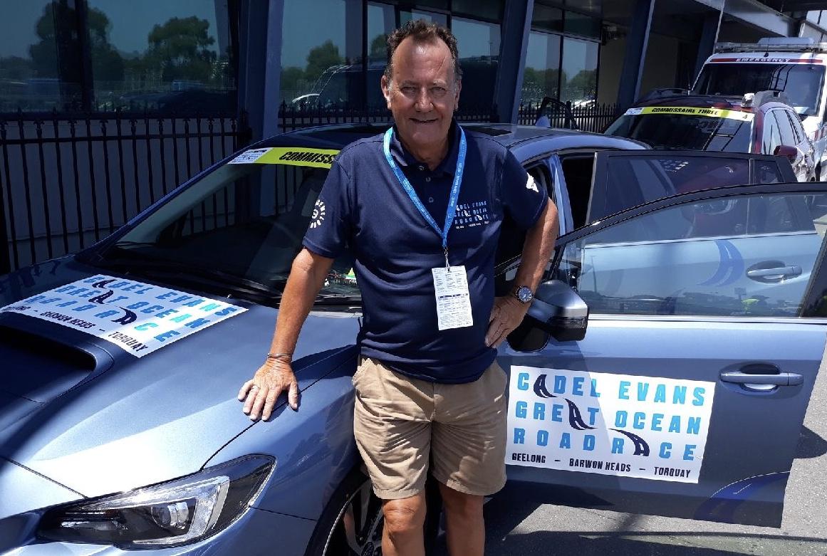 Cadel Evans Great Ocean Road Race 18 - John Elderfield (BiciSport) was the Commissaire 4 convoy driver.