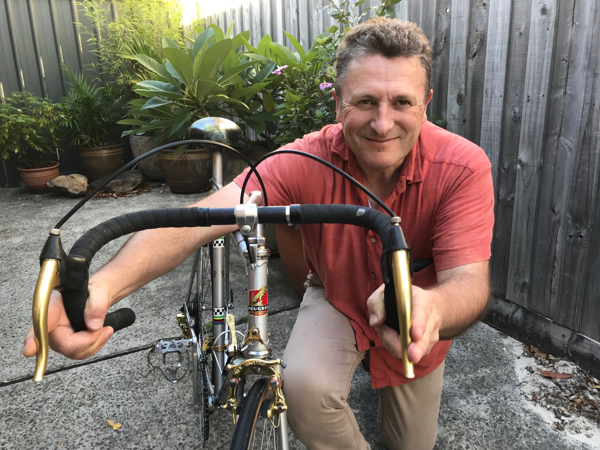 Herve Boutin with the Peugeot PY-10 featuring eye catching gold anodised components