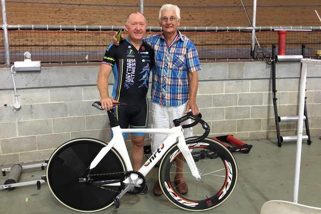 NSW Masters Track 18 - Graham Cockerton with John Crouchley (BiciSport Coach)