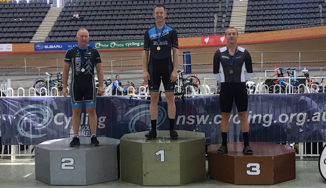 NSW Masters Track 18 - Graham Cockerton took Silver in the M5 Scratch Race