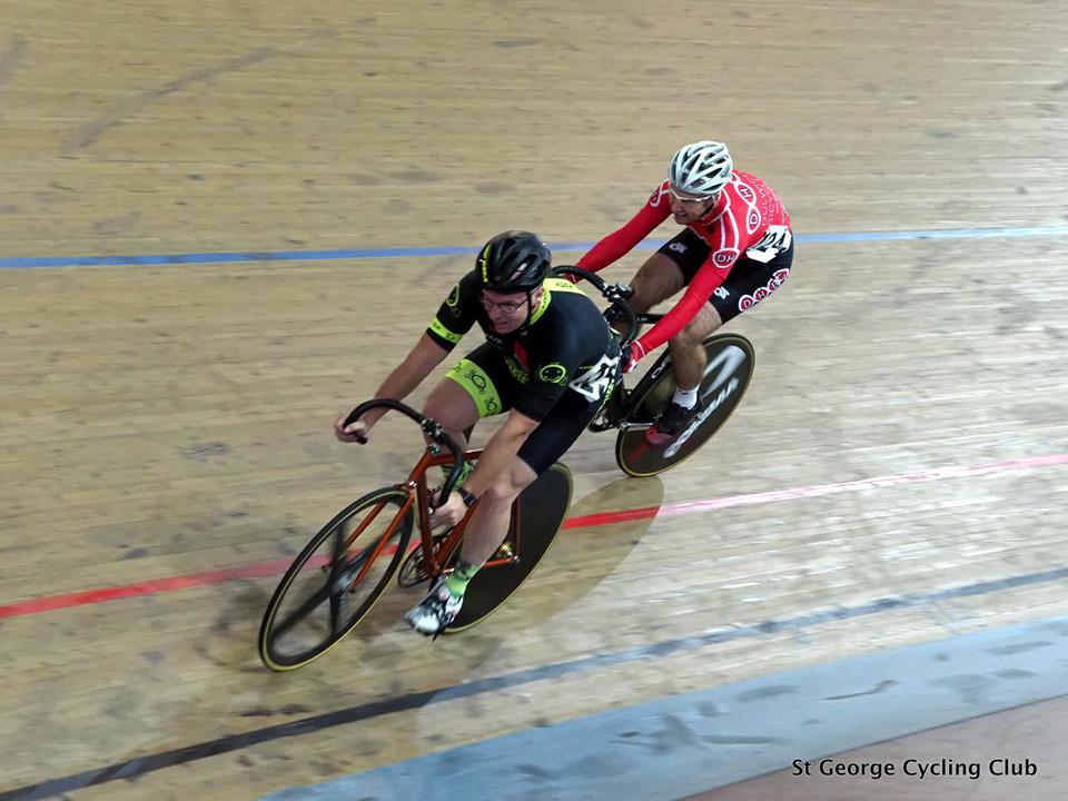 NSW Masters Track 18 - David Browne (BiciSport Happy Wheels) in the Scratch Race