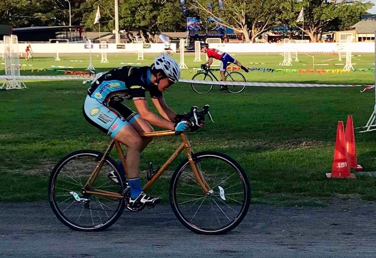 Newcasstle Show CycloCross @ 2 March - Ruth Strapp (BiciSport) rode B grade & was first woman
