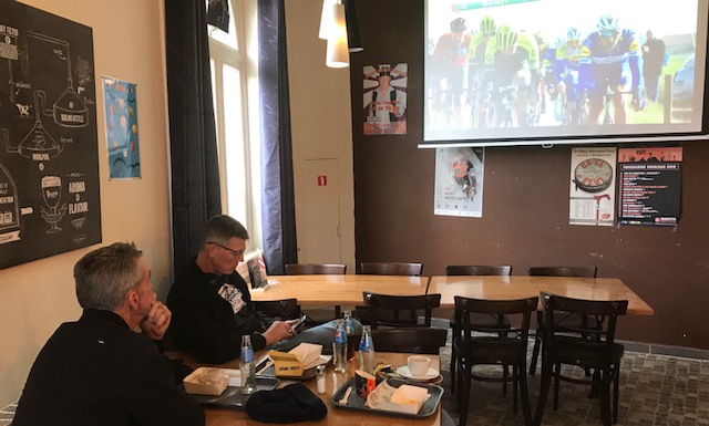 BiciSport in Flanders @ 21 Mar - at the De Panne Classic after the peloton had passed over the Kemmelberg it was time to find the nearest smoke filled Flemish cafe with the mandatory TV screen to see the finish.