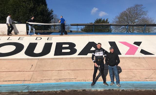 BiciSport in Flanders 18 @ 29 Mar - a visit to the famous Roubaix Velodrome for Brian Sprouster & Mike Lawson