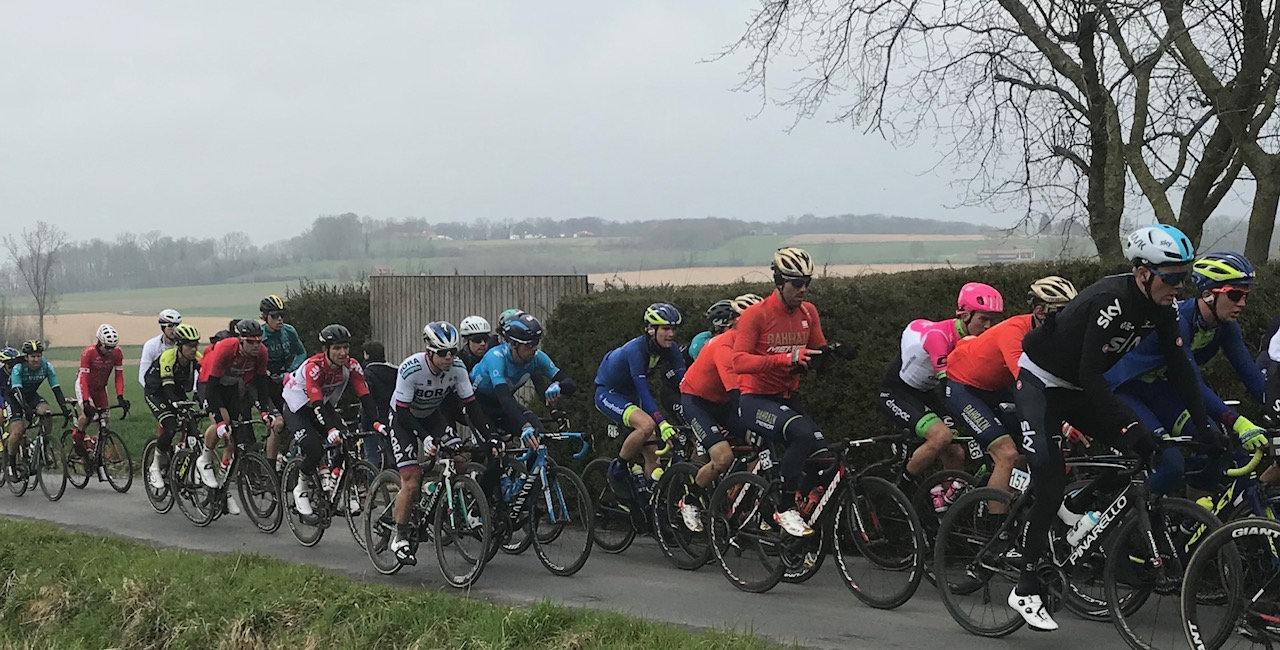 BiciSport in Flanders 18 @ 1 Apr - After the Koppenberg Cafe it was the Kortekeer climb towards Ronse.  Picture MO'R.