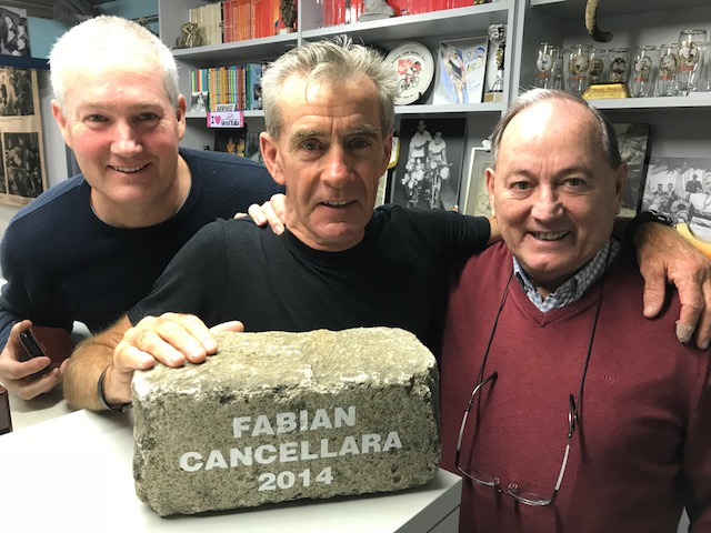 B iciSport in Flanders 18 @ 2 Apr - an opportunity not to be missed is a visit to the Verbust cycling museum at De Pinte near Ghent with (left to right) Mike O'Brien, Mike Lawson & Eddy Verbust
