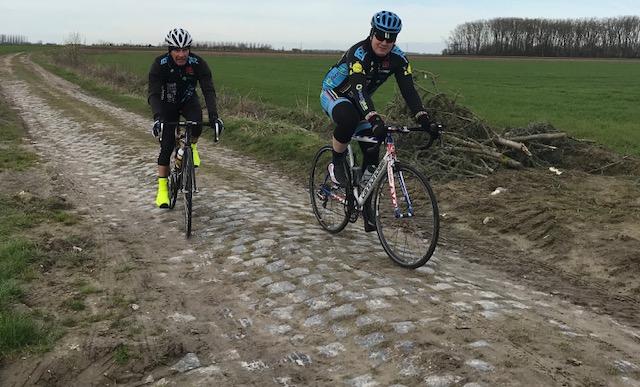 BiciSport in Flanders 18 @ 3 Apr - cobbles at Camphin en Pevele were in rough condition