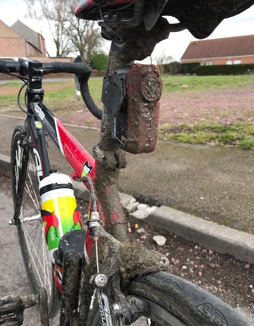 BiciSport in Flanders 18 @ 5 Apr - cold, wet & muddy conditions for the BiciSport recce ride