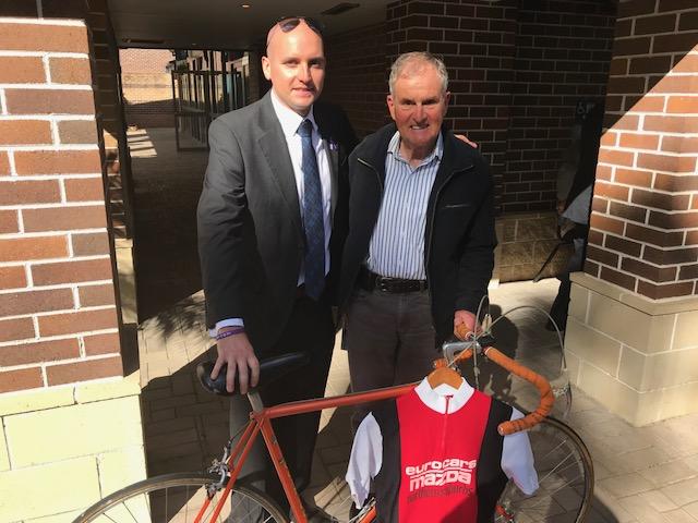 Vale David Michel - Tim Michel with David Cooper (Northern Suburbs CC & BiciSport)