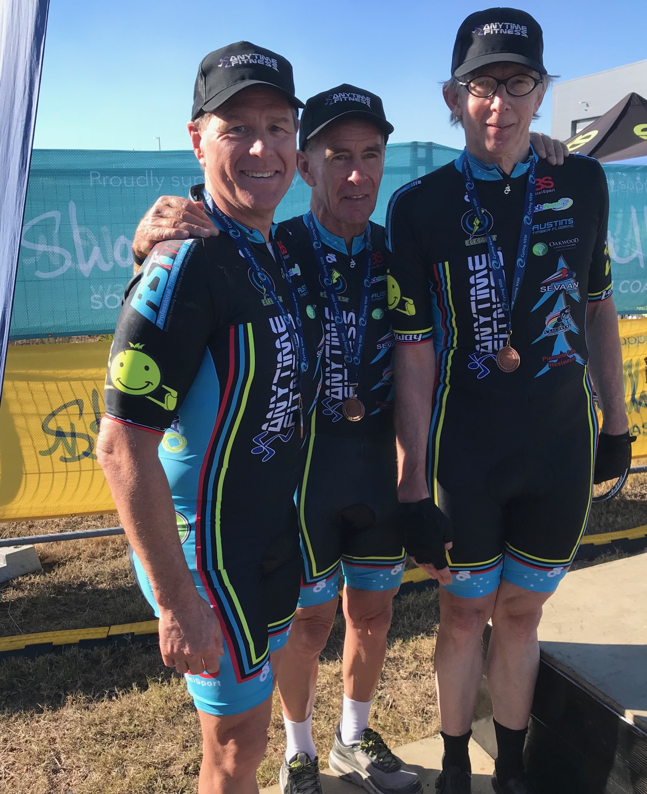 Nowra Team Time Trial Championships @ 21 July - The 180+ BiciSport Masters team took the Bronze medal with Peter Budd, Mike Lawson & Peter Verhoeven