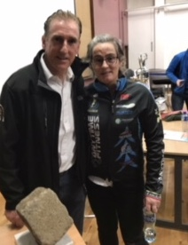 Sean Kelly, Kirsty Flanagan and the Paris Roubaix victory cobble