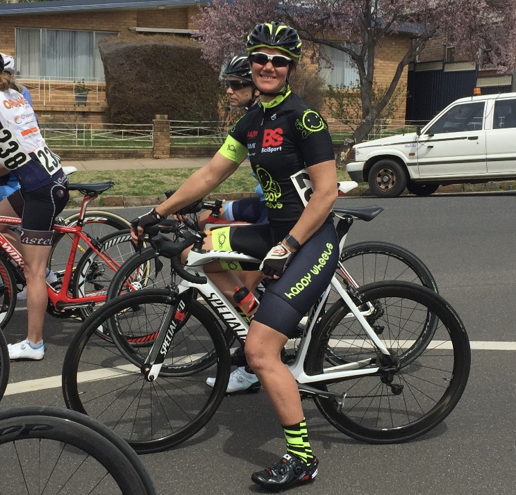 NSW Masters Road Championships @ 22 Sept - Ruth Strapp at the W4 Road Race start