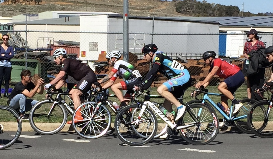 NSW Masters Road Championships @ 23 Sept - Rhett Hall (#177) took 8th in the M4 Criterium
