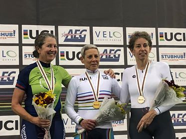 World Masters Track Championships @ 8 Oct - Lise Benjamin set a new World Record of 39.498secs