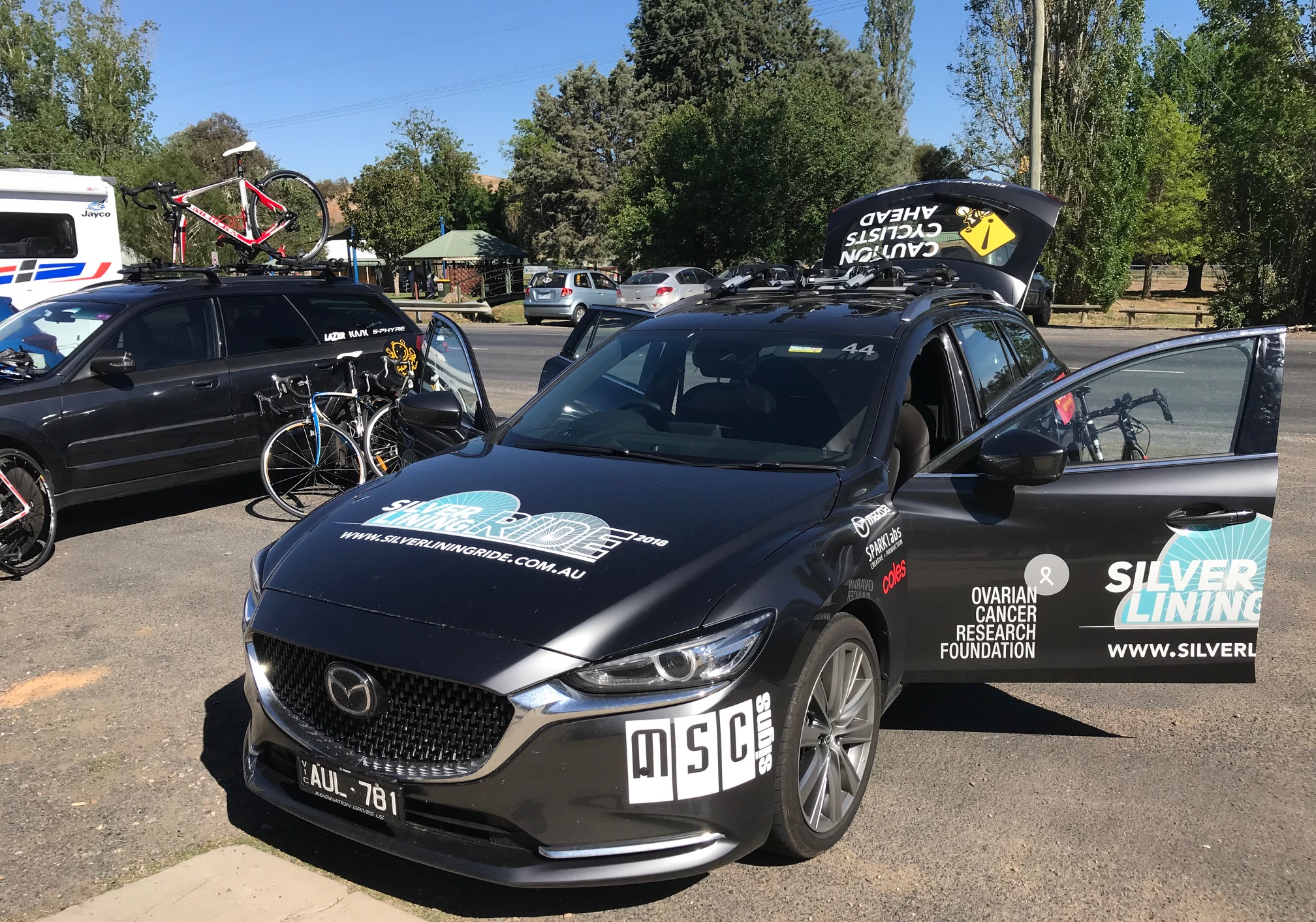 Silver Linings Charity Ride @ Jugiong @ 22 Oct - Before the stage start from Jugiong to Harden