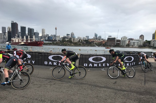 White Bay 18 @ 17 Oct - Conor Tarlington & Declan Jones in the action with a nice Sydney City backdrop